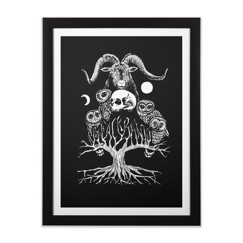The Horned One's Messengers Home Framed Fine Art Print by Black Banjo Arts