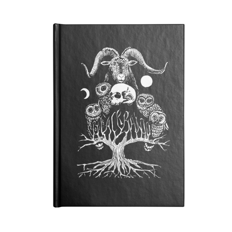 The Horned One's Messengers Accessories Lined Journal Notebook by Black Banjo Arts