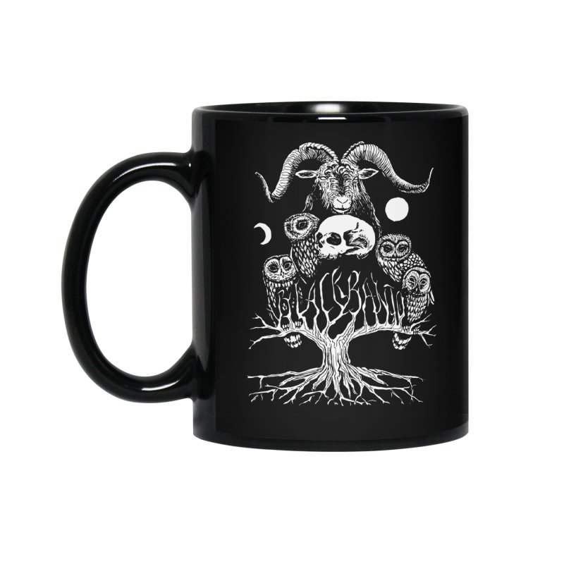 The Horned One's Messengers Accessories Standard Mug by Black Banjo Arts