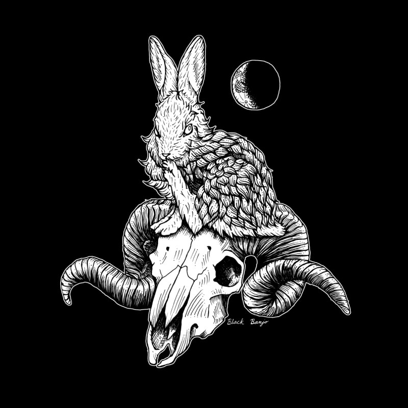 Rabbit & Ram Men's T-Shirt by Black Banjo Arts