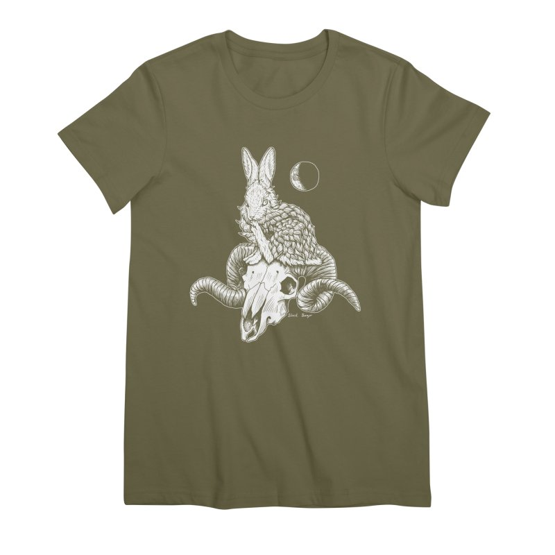 Rabbit & Ram Women's Premium T-Shirt by Black Banjo Arts