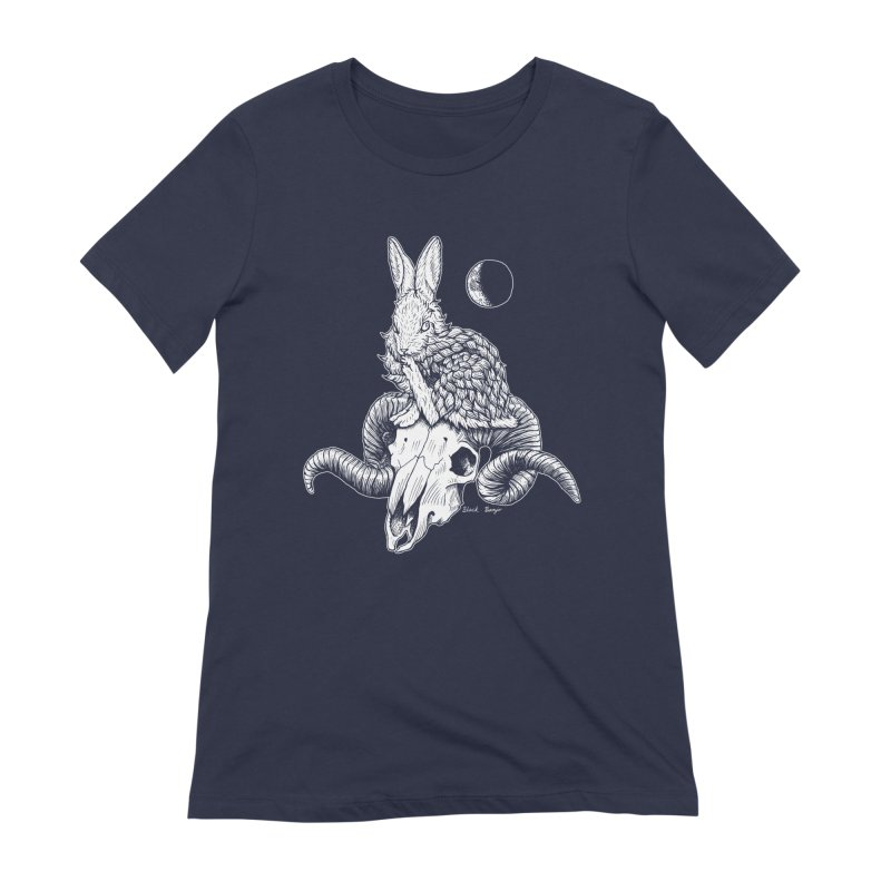 Rabbit & Ram Women's Extra Soft T-Shirt by Black Banjo Arts