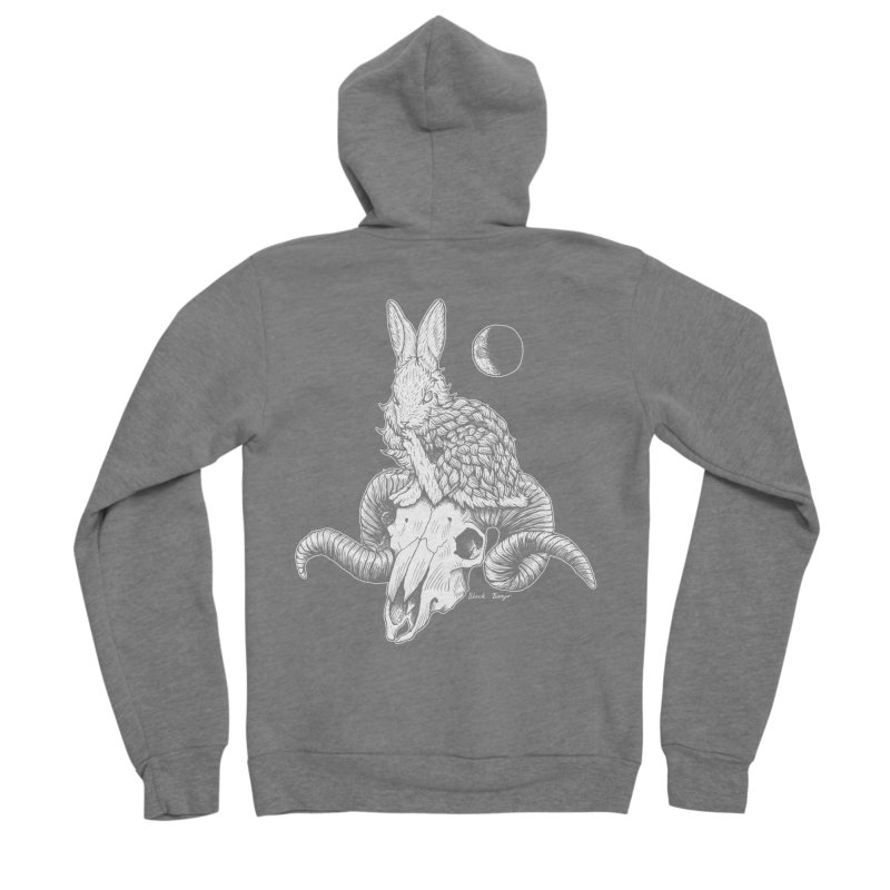 Rabbit & Ram Men's Zip-Up Hoody by Black Banjo Arts