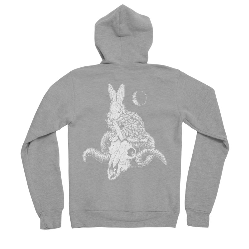 Rabbit & Ram Men's Sponge Fleece Zip-Up Hoody by Black Banjo Arts