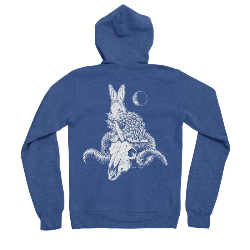 Rabbit & Ram Women's Sponge Fleece Zip-Up Hoody by Black Banjo Arts