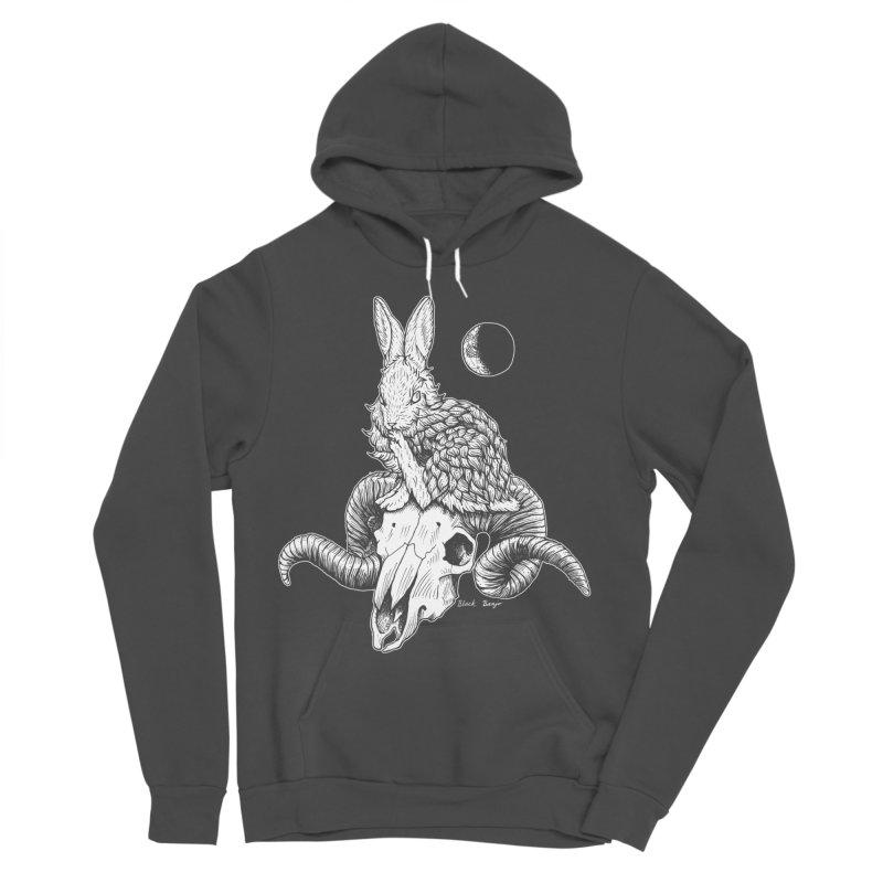 Rabbit & Ram Men's Sponge Fleece Pullover Hoody by Black Banjo Arts