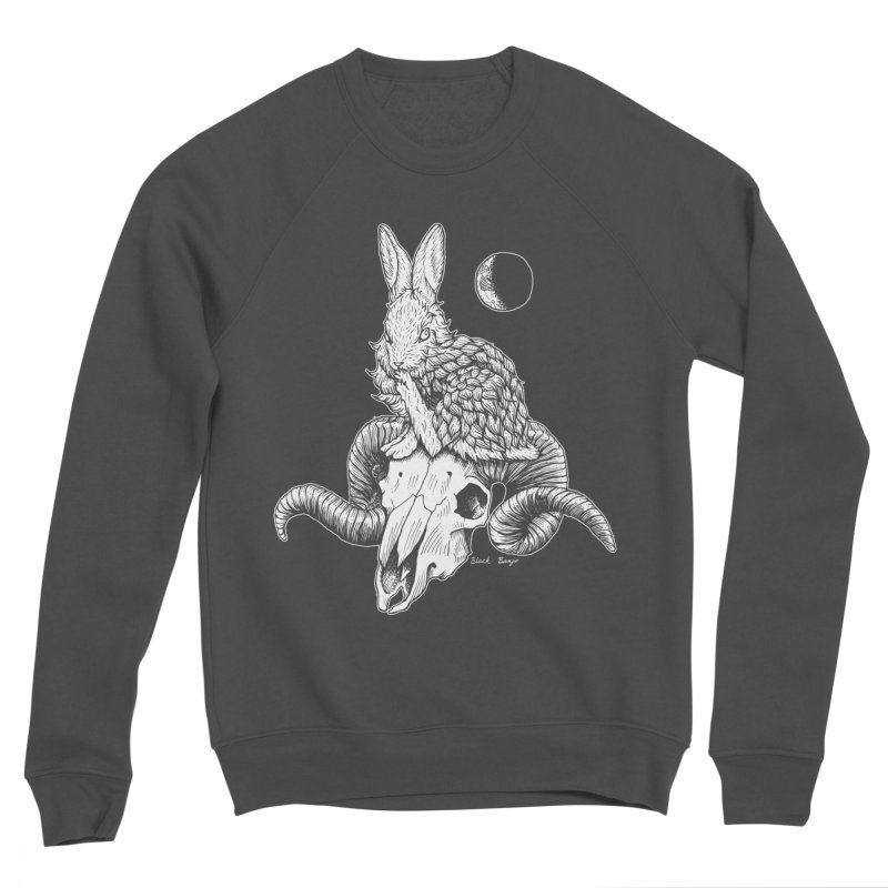 Rabbit & Ram Women's Sponge Fleece Sweatshirt by Black Banjo Arts