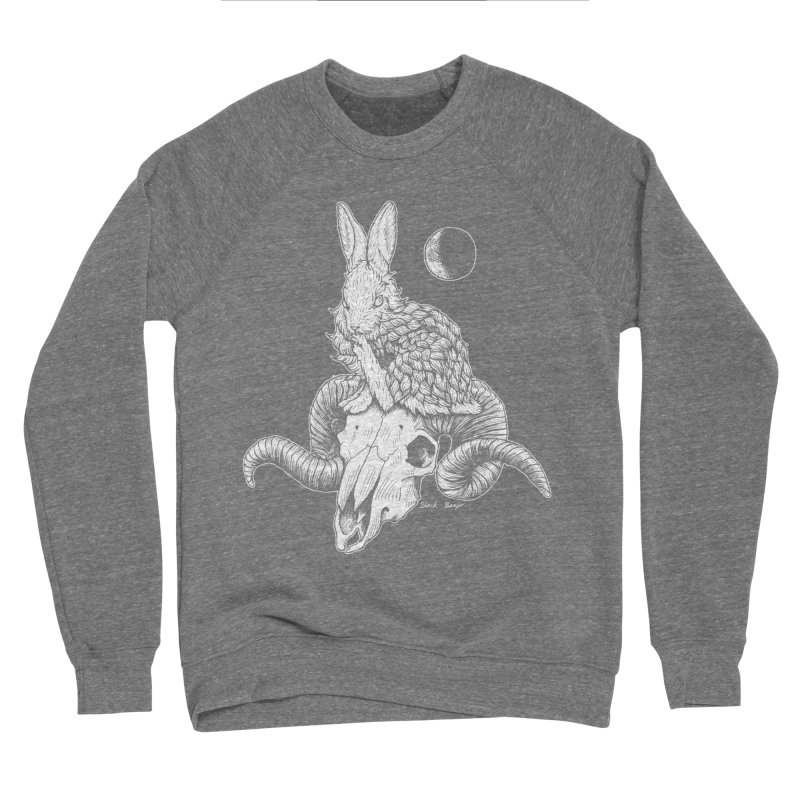 Rabbit & Ram Men's Sponge Fleece Sweatshirt by Black Banjo Arts