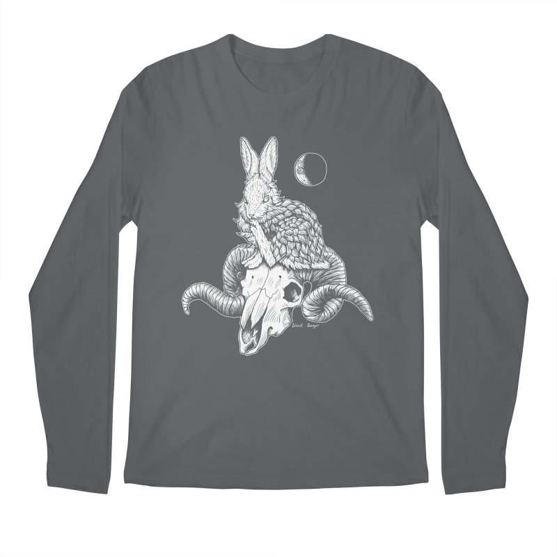 Rabbit & Ram Men's Longsleeve T-Shirt by Black Banjo Arts