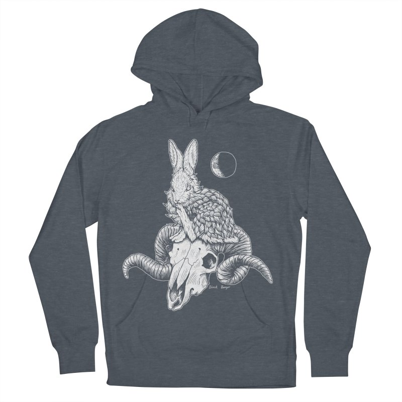 Rabbit & Ram Men's French Terry Pullover Hoody by Black Banjo Arts