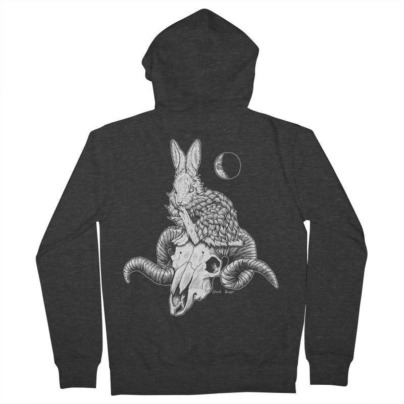 Rabbit & Ram Women's Zip-Up Hoody by Black Banjo Arts