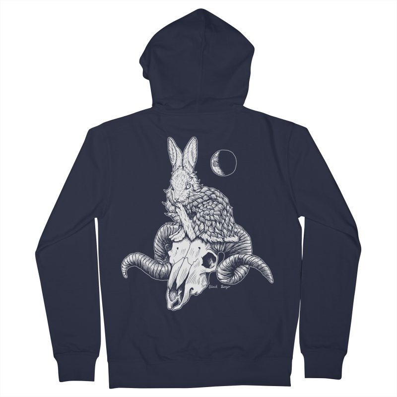 Rabbit & Ram Women's French Terry Zip-Up Hoody by Black Banjo Arts