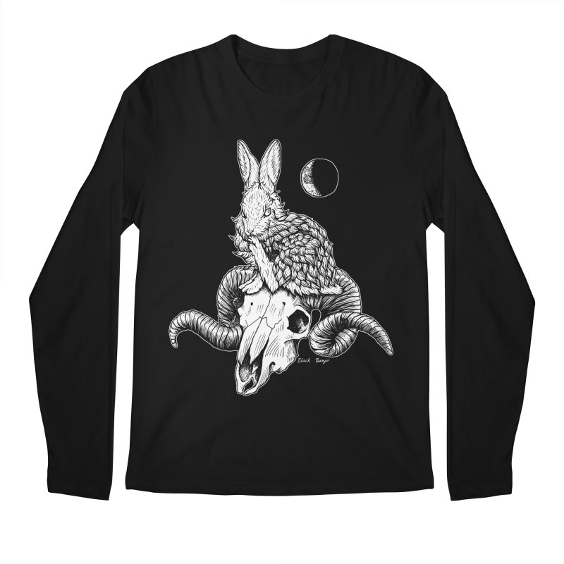 Rabbit & Ram Men's Regular Longsleeve T-Shirt by Black Banjo Arts