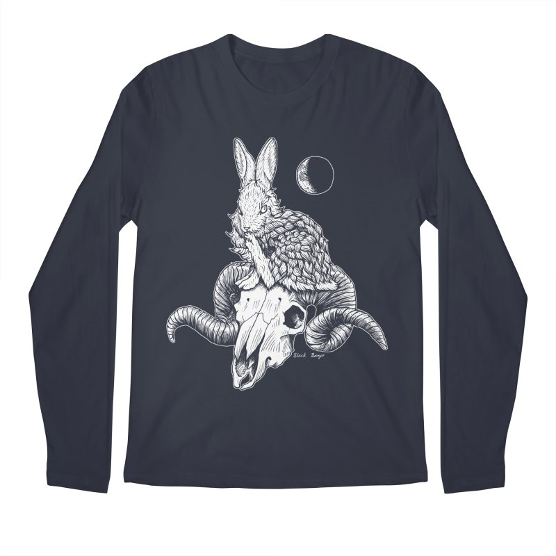 Rabbit & Ram Men's Regular Longsleeve T-Shirt by Black Banjo Arts