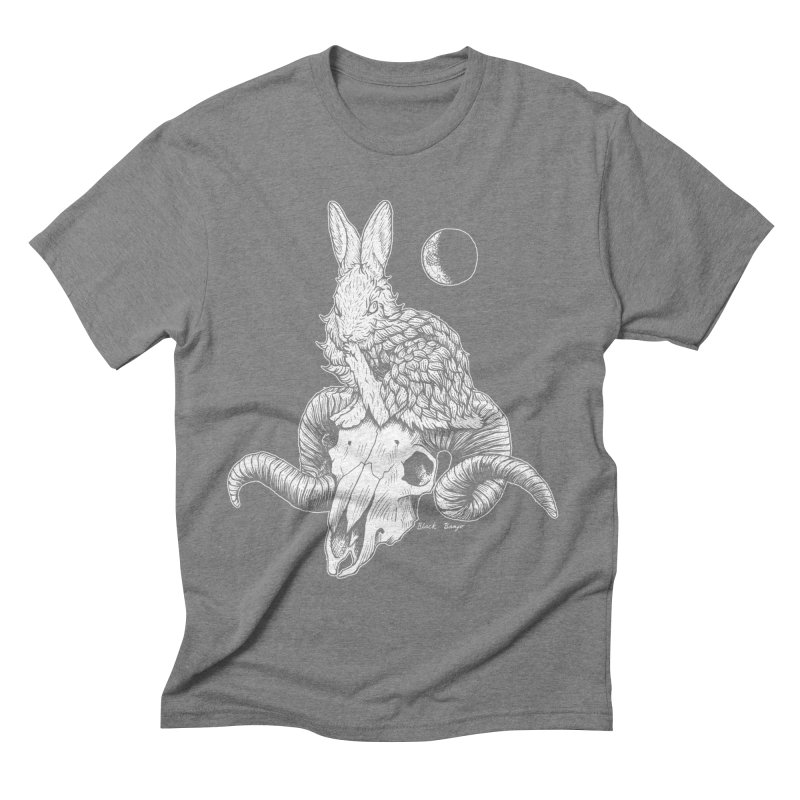 Rabbit & Ram Men's Triblend T-Shirt by Black Banjo Arts
