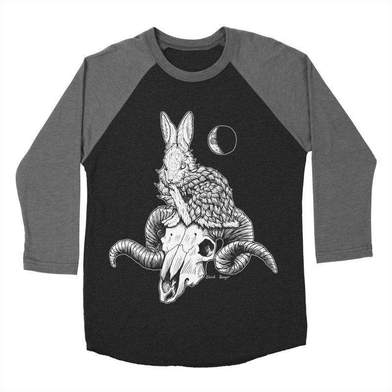 Rabbit & Ram Women's Baseball Triblend Longsleeve T-Shirt by Black Banjo Arts