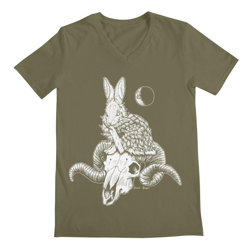 Rabbit & Ram Men's Regular V-Neck by Black Banjo Arts