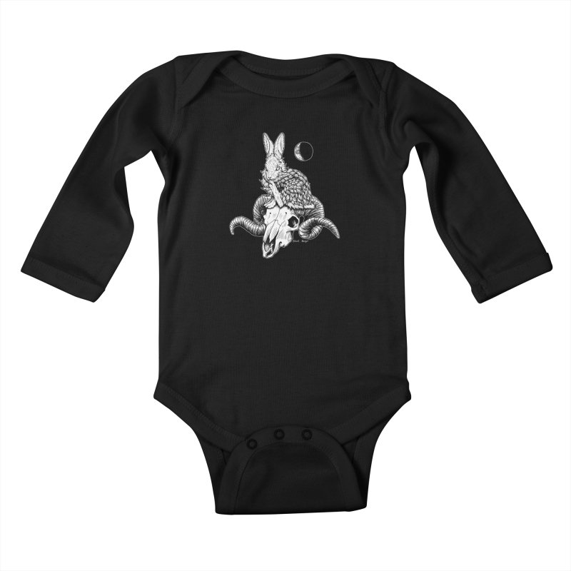 Rabbit & Ram Kids Baby Longsleeve Bodysuit by Black Banjo Arts