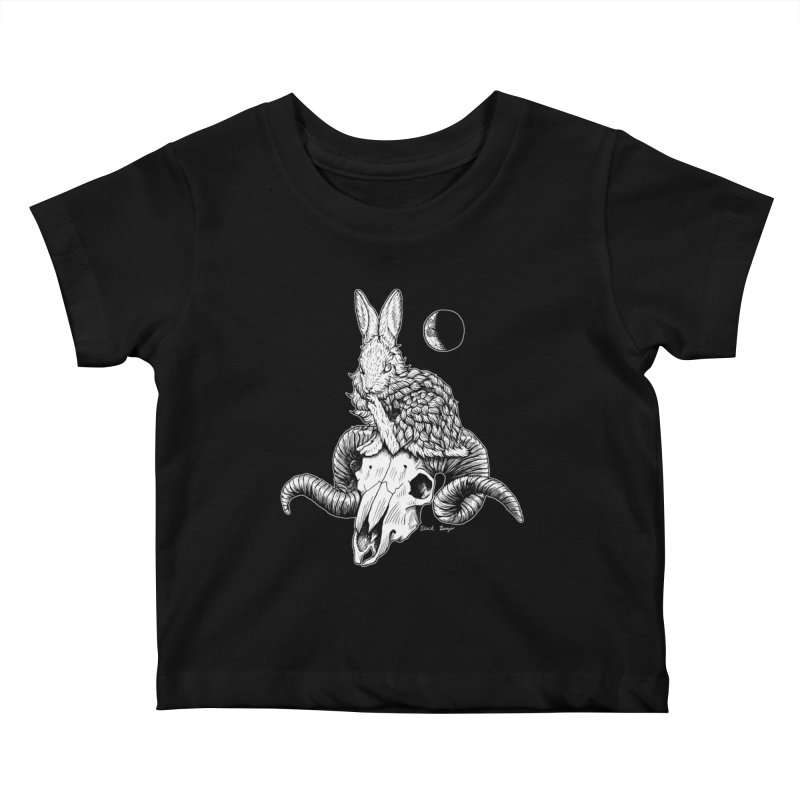 Rabbit & Ram Kids Baby T-Shirt by Black Banjo Arts