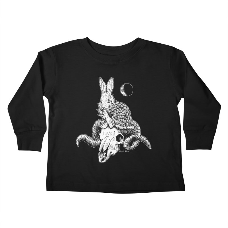 Rabbit & Ram Kids Toddler Longsleeve T-Shirt by Black Banjo Arts