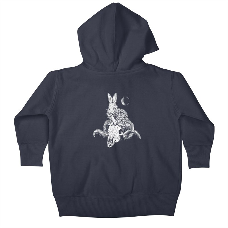 Rabbit & Ram Kids Baby Zip-Up Hoody by Black Banjo Arts