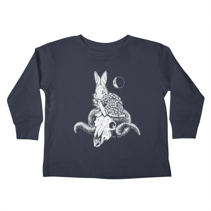 Rabbit & Ram Kids Toddler Longsleeve T-Shirt by Black Banjo Arts