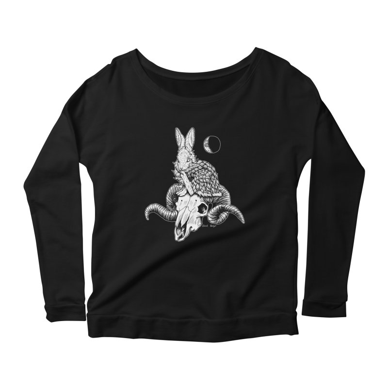 Rabbit & Ram Women's Scoop Neck Longsleeve T-Shirt by Black Banjo Arts