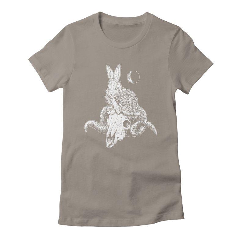 Rabbit & Ram Women's Fitted T-Shirt by Black Banjo Arts