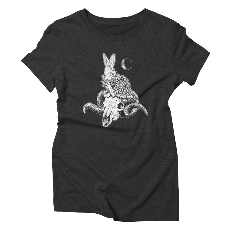 Rabbit & Ram Women's Triblend T-Shirt by Black Banjo Arts