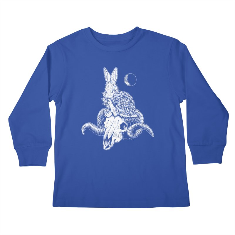 Rabbit & Ram Kids Longsleeve T-Shirt by Black Banjo Arts