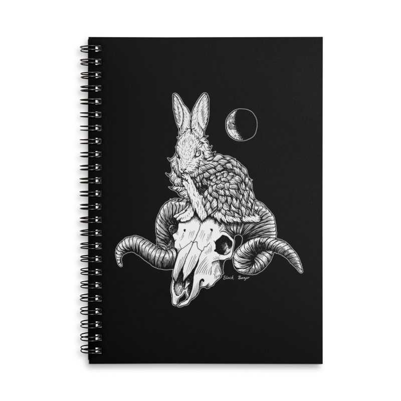 Rabbit & Ram Accessories Lined Spiral Notebook by Black Banjo Arts