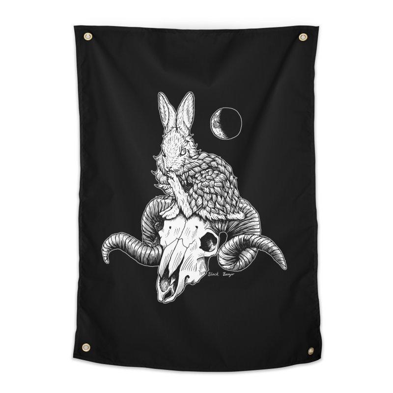 Rabbit & Ram Home Tapestry by Black Banjo Arts