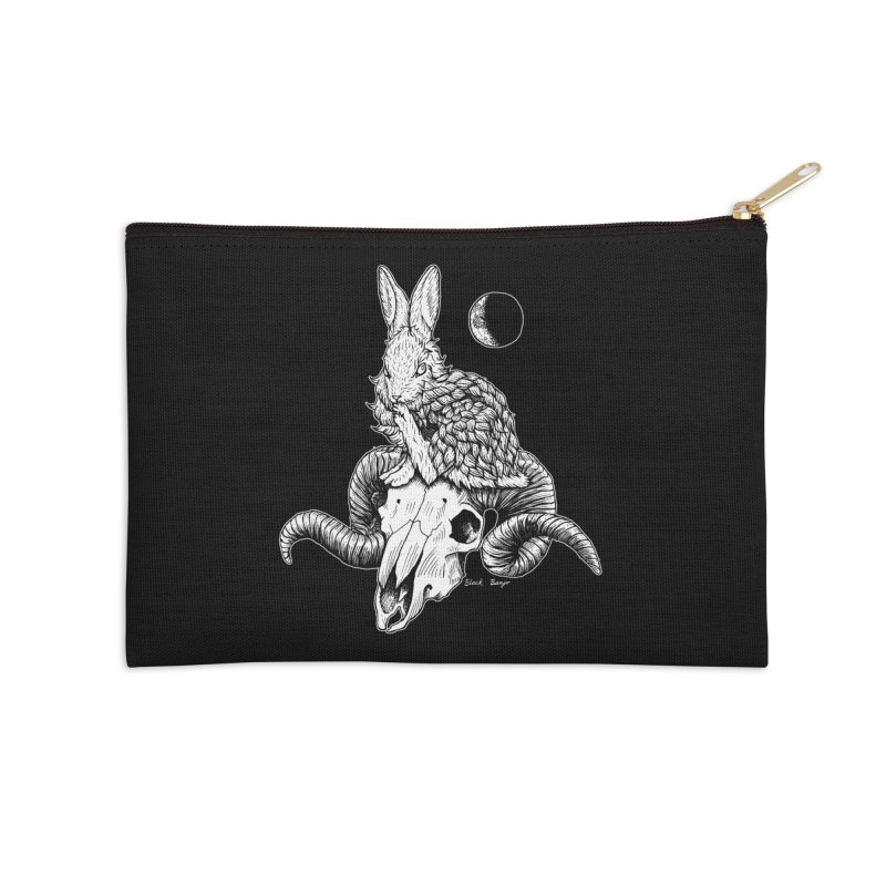 Rabbit & Ram Accessories Zip Pouch by Black Banjo Arts