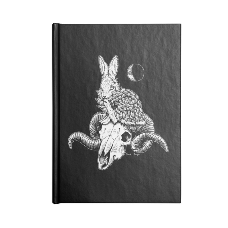 Rabbit & Ram Accessories Blank Journal Notebook by Black Banjo Arts