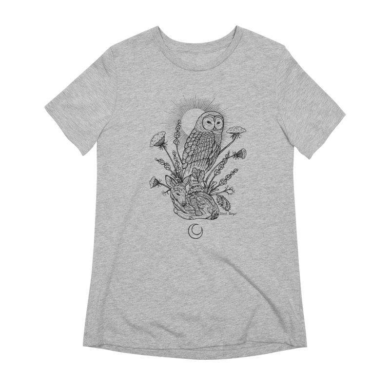 Owl & Fawn Women's Extra Soft T-Shirt by Black Banjo Arts