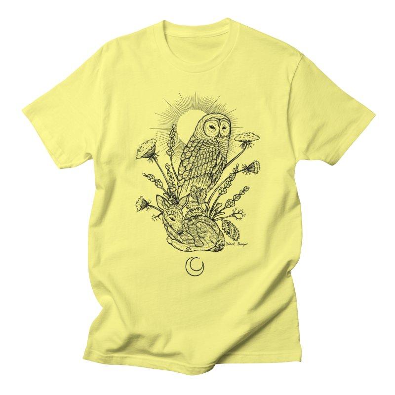Owl & Fawn Men's T-Shirt by Black Banjo Arts