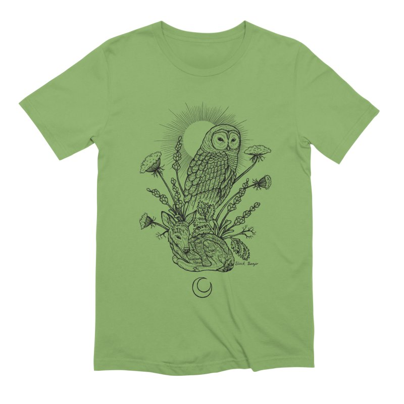 Owl & Fawn Men's Extra Soft T-Shirt by Black Banjo Arts