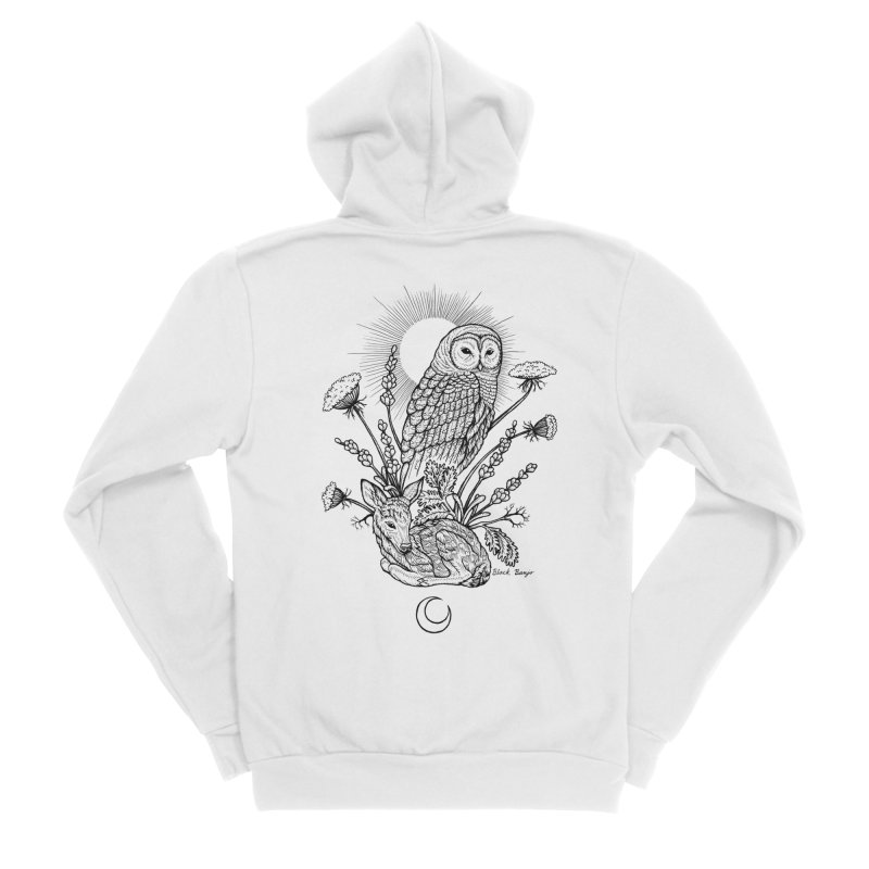 Owl & Fawn Men's Sponge Fleece Zip-Up Hoody by Black Banjo Arts