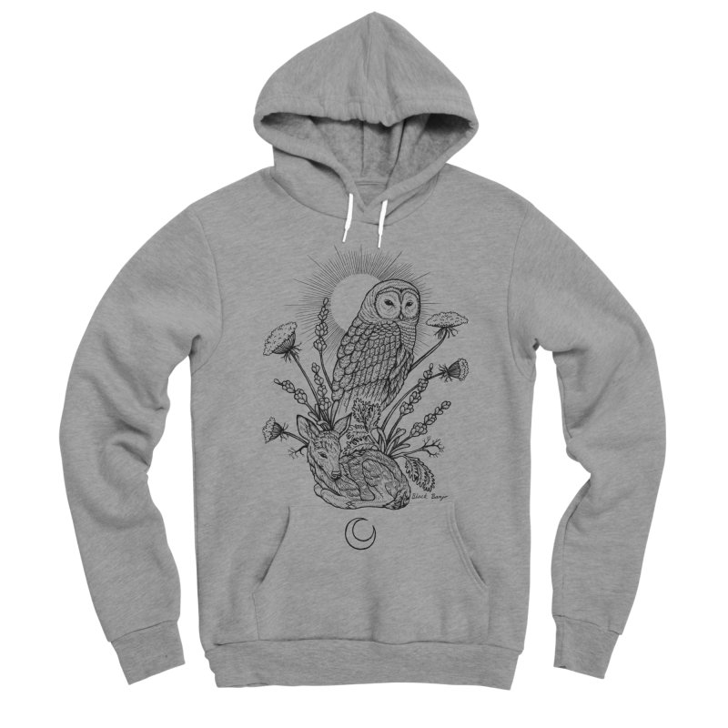 Owl & Fawn Women's Sponge Fleece Pullover Hoody by Black Banjo Arts