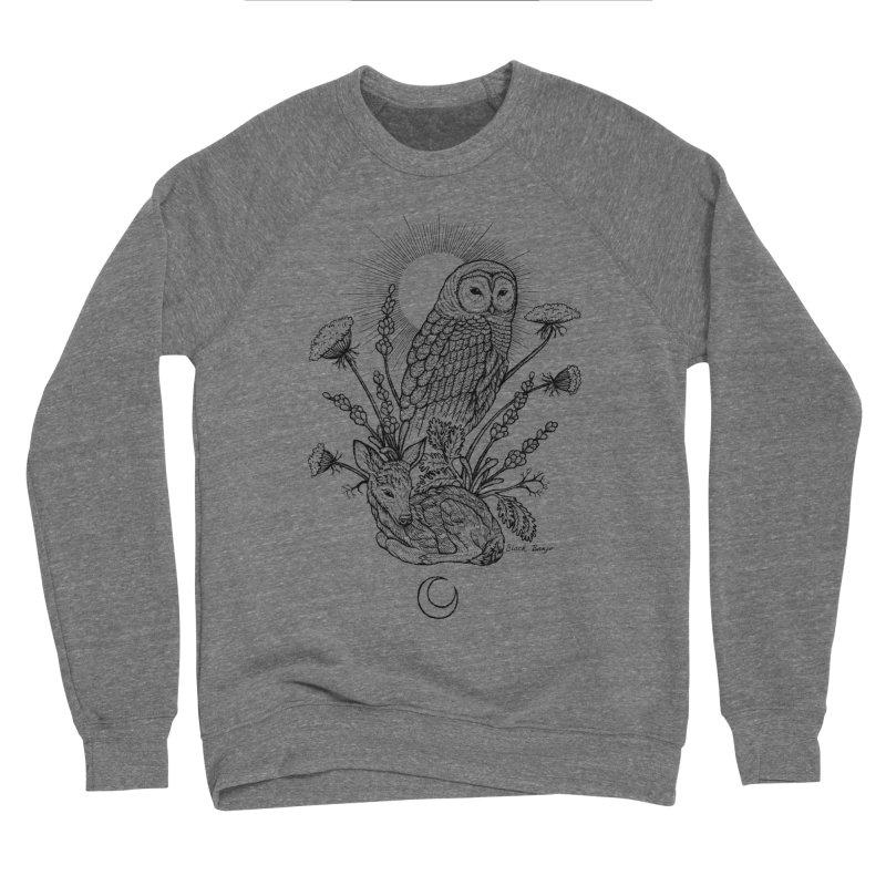 Owl & Fawn Men's Sponge Fleece Sweatshirt by Black Banjo Arts