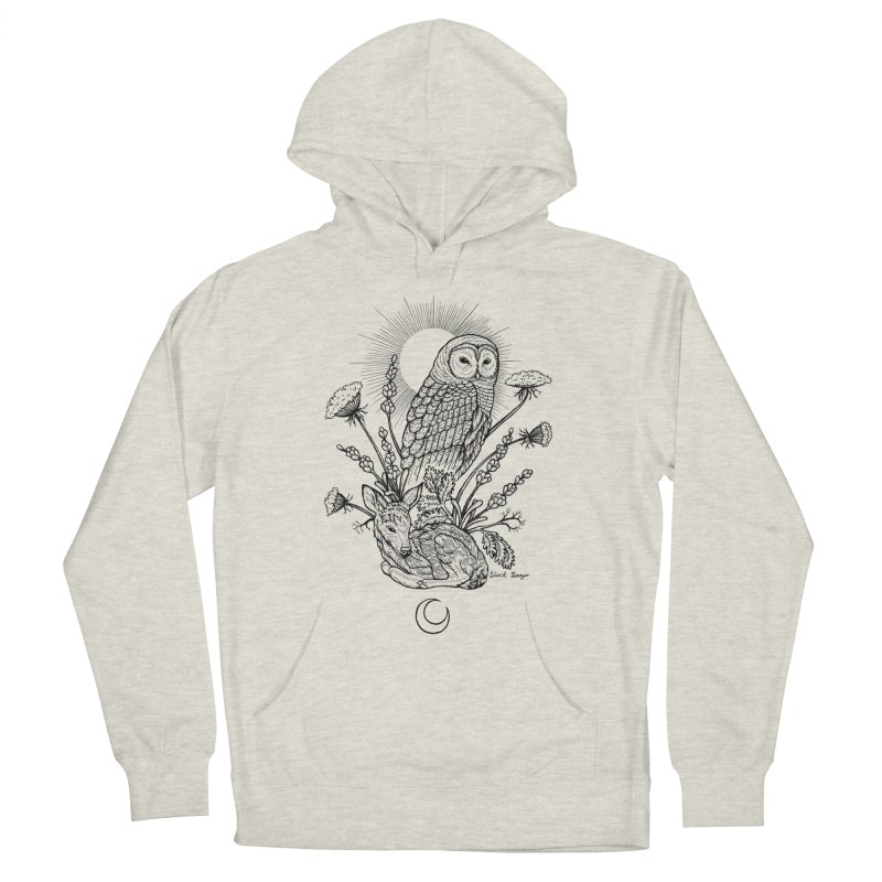 Owl & Fawn Men's Pullover Hoody by Black Banjo Arts