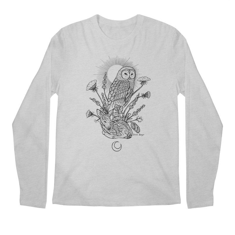 Owl & Fawn Men's Longsleeve T-Shirt by Black Banjo Arts