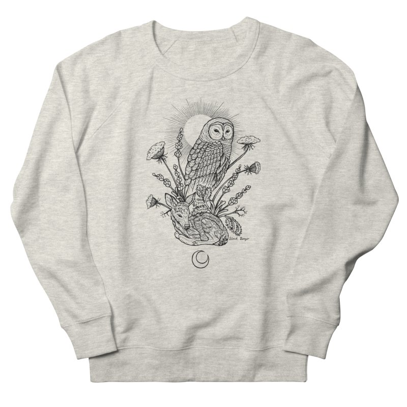 Owl & Fawn Men's Sweatshirt by Black Banjo Arts