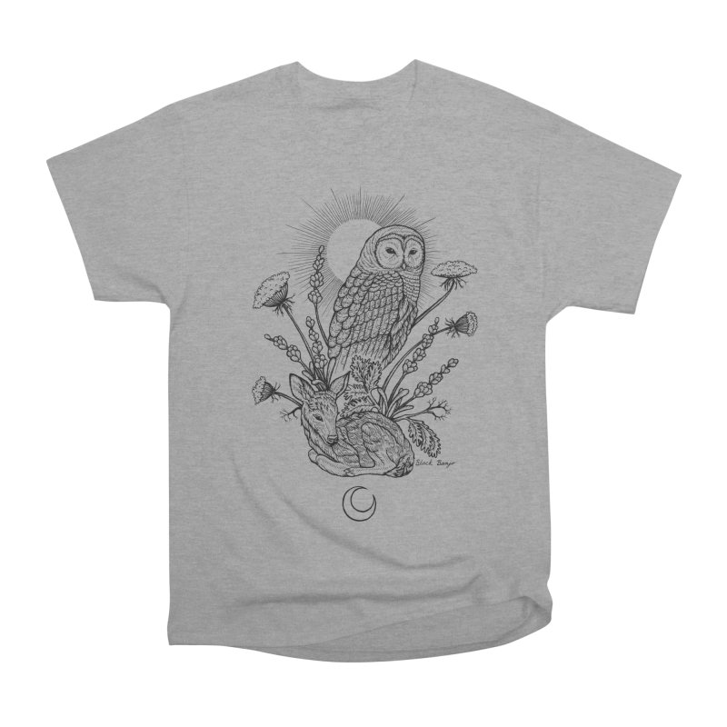 Owl & Fawn Women's Heavyweight Unisex T-Shirt by Black Banjo Arts