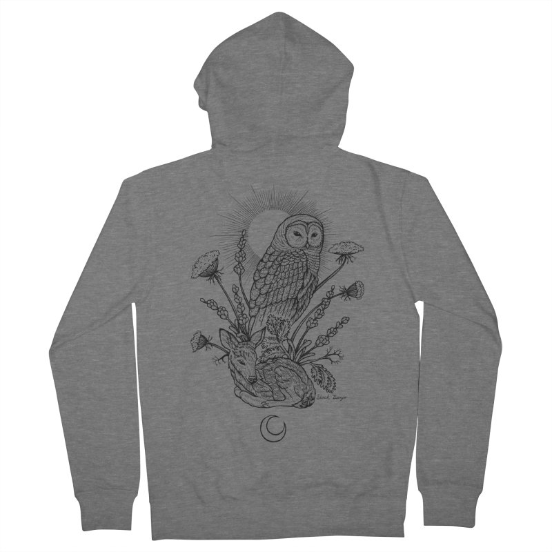 Owl & Fawn Women's French Terry Zip-Up Hoody by Black Banjo Arts