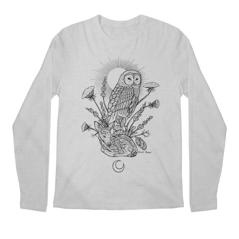 Owl & Fawn Men's Longsleeve T-Shirt by Black Banjo Arts
