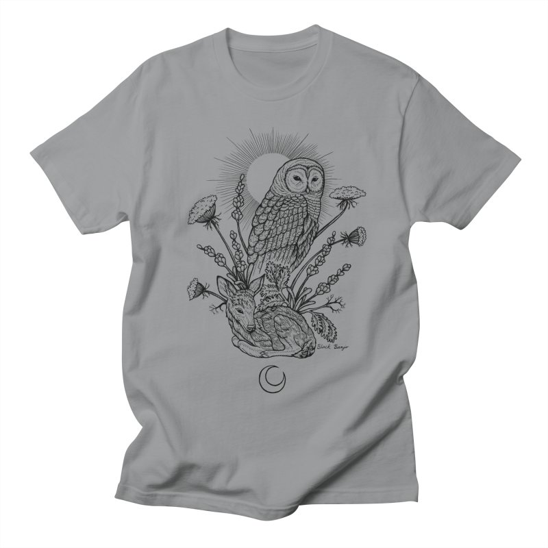 Owl & Fawn Women's Regular Unisex T-Shirt by Black Banjo Arts