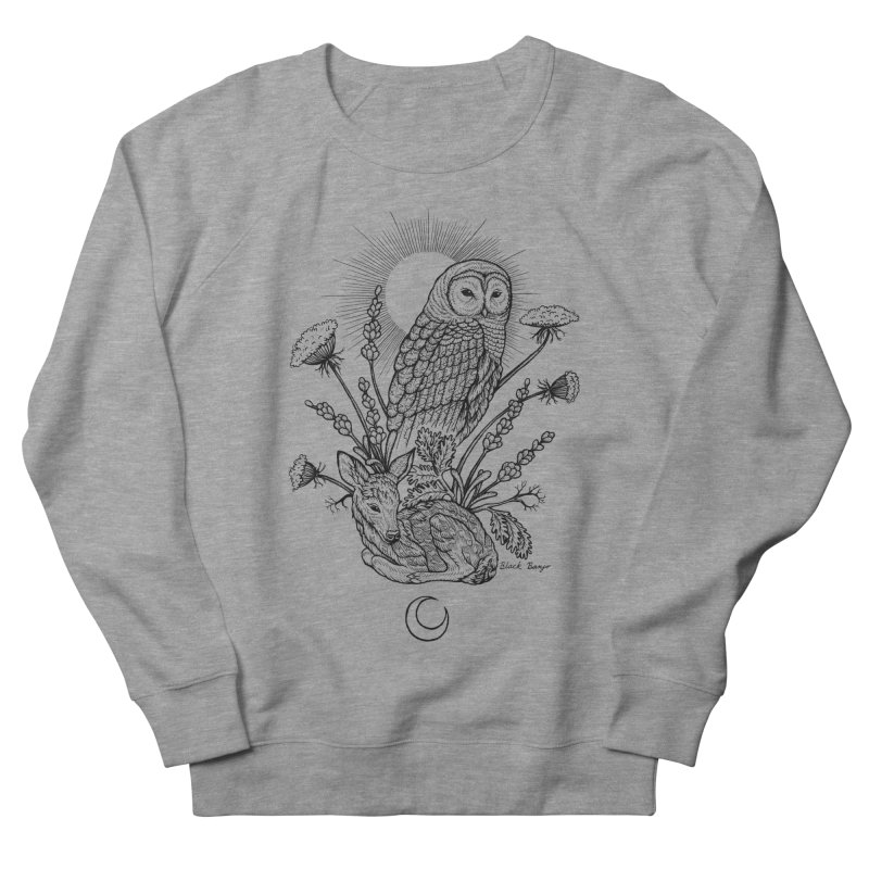 Owl & Fawn Men's French Terry Sweatshirt by Black Banjo Arts
