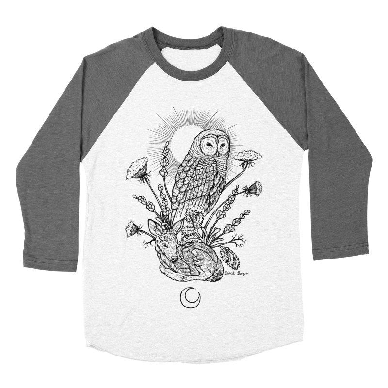 Owl & Fawn Men's Baseball Triblend Longsleeve T-Shirt by Black Banjo Arts