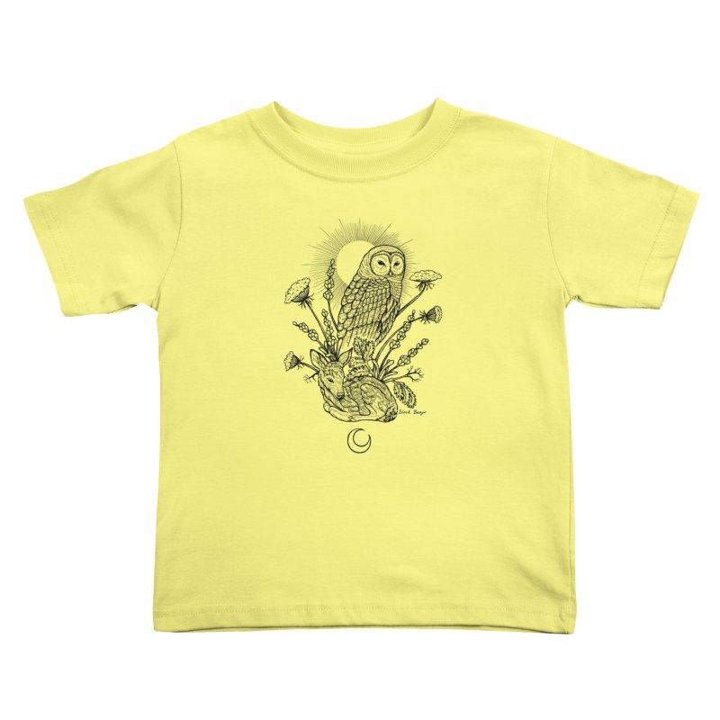 Owl & Fawn Kids Toddler T-Shirt by Black Banjo Arts
